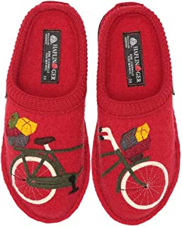 Bicycle Women's Wool Slippers, Red