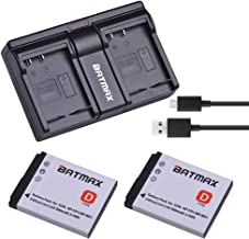Batmax 2Pcs 3.6V 980mAh NP-BD1/NP-FD1 Rechargeable Li-ion Battery + USB Dual Charger for Sony T2 T200 T70 T700 T300T77 T500 T90 T900 TX1 Cameras