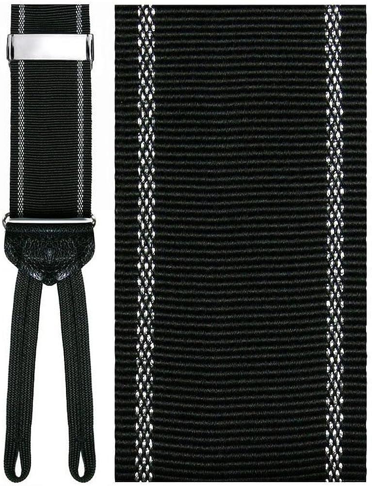 Basilicata Black Silk Suspenders