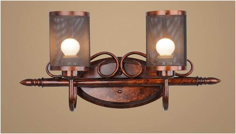 XH shop wall lamp Amerikanischen Land Retro Schmiedeeisen Wandleuchte Einfache Wohnzimmer Flur Lampe Schlafzimmer Europische moderne einfache europische Lampe (Größe   25  51cm)