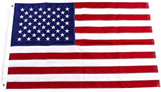 Yafeco U.S. 50 Star Sewn Boat Flag,  16 x 24 inch Yacht Boat Ensign Nautical US American Flag Fully with Sewn Stripes,  Embroidered Stars and Brass Grommets 12 x 18 inch