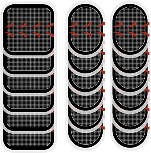 Electrodes Pad,18 PCS Gel Pads Replacement Unit Set Pack for All Abdominal Belts