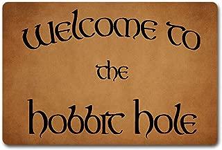 ZQH IndoorDoor Mats Welcome to The Hobbit Hole Doormat The Lord of The Ring Door Mats (23.6 X 15.7 in) Non-Woven Fabric Top with a Anti-Slip Rubber Back Door Rugs Indoor Doormats