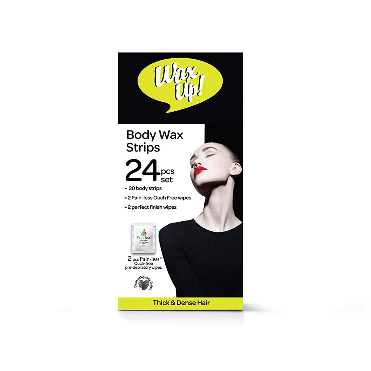 Wax Up Body Strips Thick and Dense, 24 Count