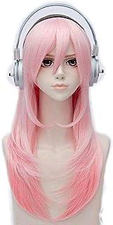 すーぱーそに子風 ピンク ウィッグ ヘッドホン かつら専用ネット付 3点セット