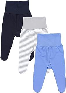 TupTam Baby Jungen Strampelhose mit Fuß 3er Pack
