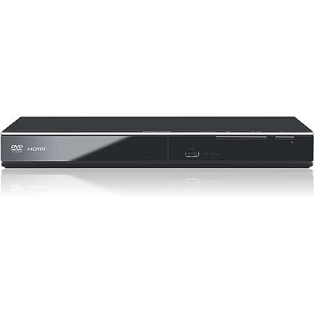Panasonic DVD-S700EG-K Lettore DVD, HD Up-Conversion a 1080p, Multi-Formato Xvid, JPEG con Musica, CD Ripping, Design Compatto ed Elegante, Nero
