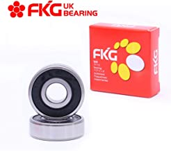 FKG 6302-2RS 15x42x13mm Deep Groove Ball Bearing Double Rubber Seal Bearings Pre-Lubricated 2 Pcs
