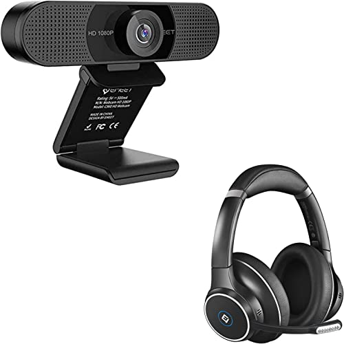 popular 1080P Webcam with Bluetooth Headset, eMeet C960 Web online sale Camera with 2 De-Noise Mics, ENC Noise Cancelling Headphones with 4 Mics, outlet sale Plug & Play USB Webcam for Online Calling/Conference, Zoom/Skype outlet sale