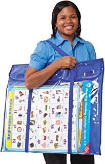 Carson-Dellosa CD-180000 Deluxe Bulletin Board Storage Bag, Clear/Blue, 30
