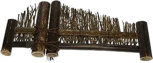 Blesiya Mini Cerca de Bambú Esculturas Estatuas de Jardín Detalles Decorativos Patio Casa Adornos - S