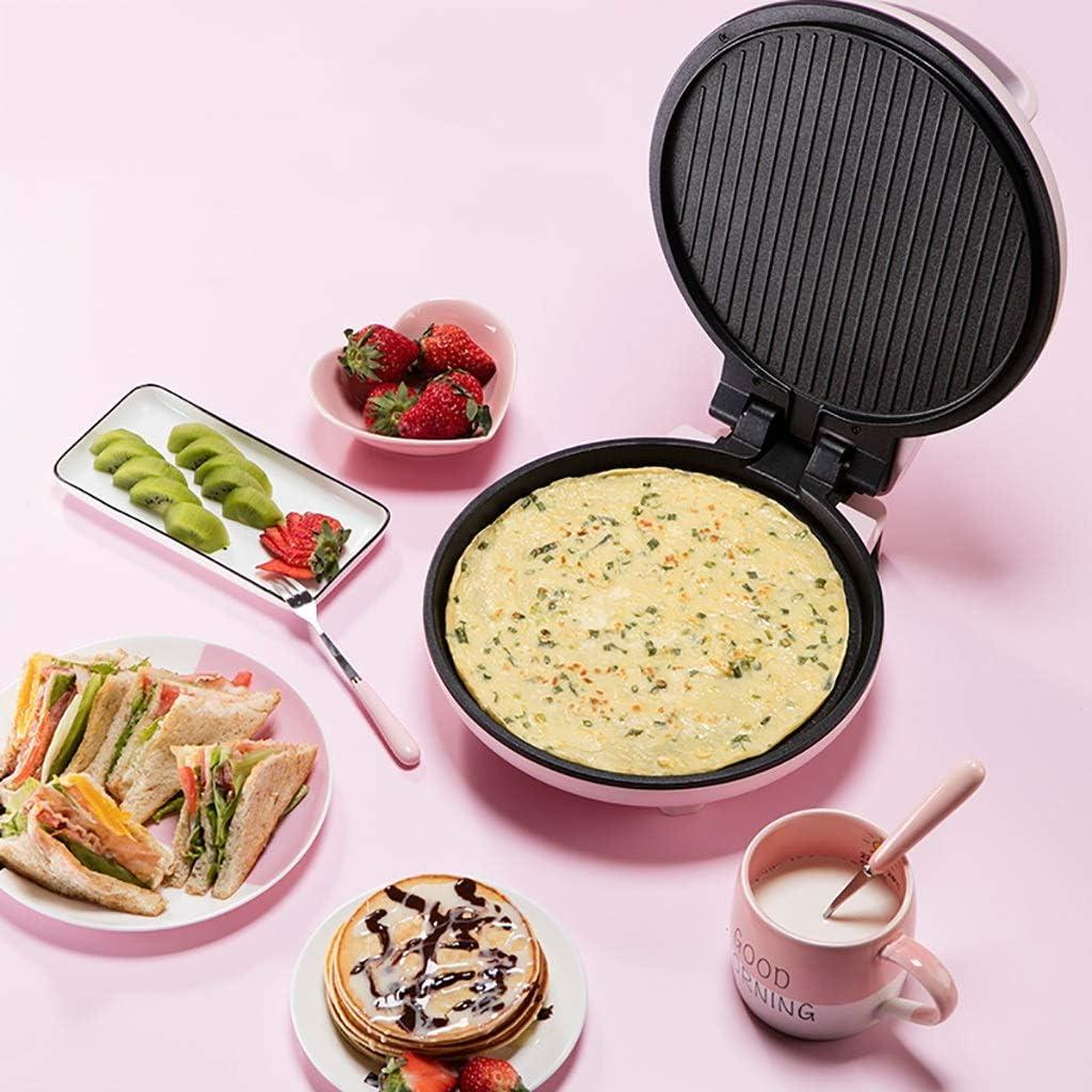 XIAOYY Électrique Gaufrier for Gaufres, Machine Waffle for paninis, Biscuits, Sandwich Grille-Pain/Toastie □ Remplir Les plaques Non Profond-Stick Hot (Color : Pink) Pink