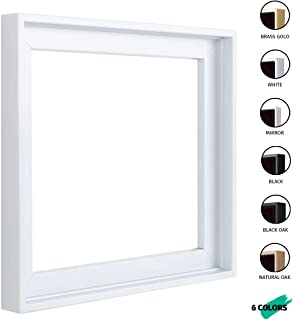 Square Floater Frames for Canvas Paintings 12x12 | 6 Colors | Floater Frame for Stretched Canvas, Canvas Panels and Finished Artwork | 1-3/8