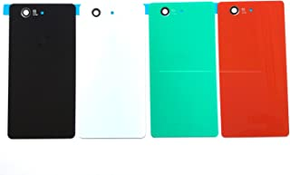 Sony Xperia Z3 Compact 交換用 バックパネル バックプレート 【強化 ガラスフィルム 同封発送】ソニー エクスペリア Z3 コンパクト 修理用 バッテリーカバー バックカバー 交換パーツ (白)