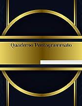Quaderno pentagrammato: Quaderno di Musica - Formato Grande - 110 Pagine, 12 Pentagrammi per pagina - Fogli Pentagrammati ...