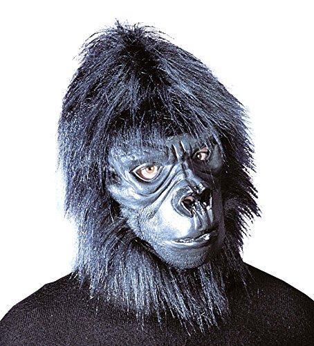 Widmann 2057 ? Masque Gorille avec Cheveux en Peluche, Vert Militaire, Taille Unique