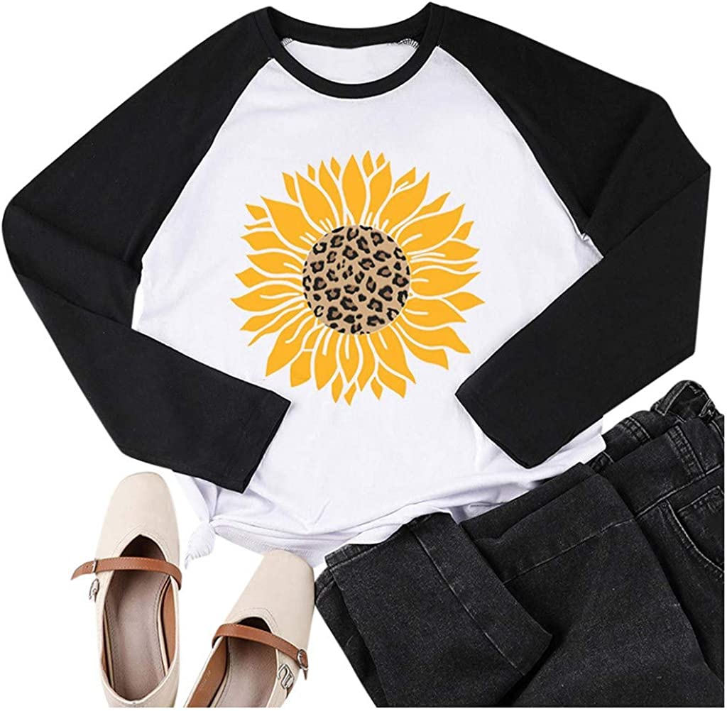 F_topbu Sweatshirts for All items in the store Women O-Neck T-Shirt Long Dedication Patchw Sleeve