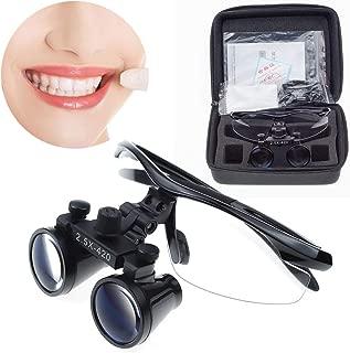 Aries Outlets 2.5X420mm Dental Loupes Binocular Magnifier Medical Surgical Glasses Frame (Black)