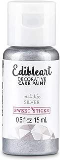 Sweet Sticks Edible Art Decorative Cake Paint 0.5 Ounce (15 Milliliters), Metallic Silver
