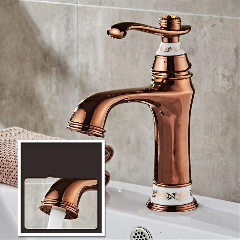 Gyps Faucet Single Lever Washbasin Mixer Tap Bathroom Tap gold Plated Ceramic Wash Basin Faucet Full Copper Bathroom Cabinet Wash Basin Mixer Tap C