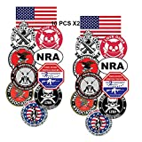 GTOTd Stickers for National Rifle Association America (10X2Pcs Large Size). 3.5-4.0'' Gifts Gun Sticker Merchandise Gun Party Supplies NRA Decal 2nd Amendment