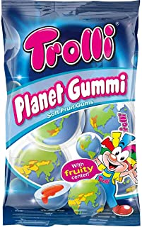 Trolli PLANET GUMMI soft fruit gums with liquid center 1 bag Made in Europe
