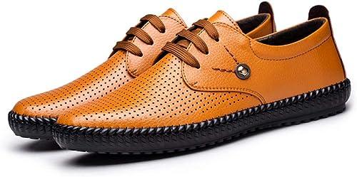 WLFHM Sommer Hohl Sandalen Schnürsenkel Freizeitschuhe Atmungsaktiv Einzelne Schuhe