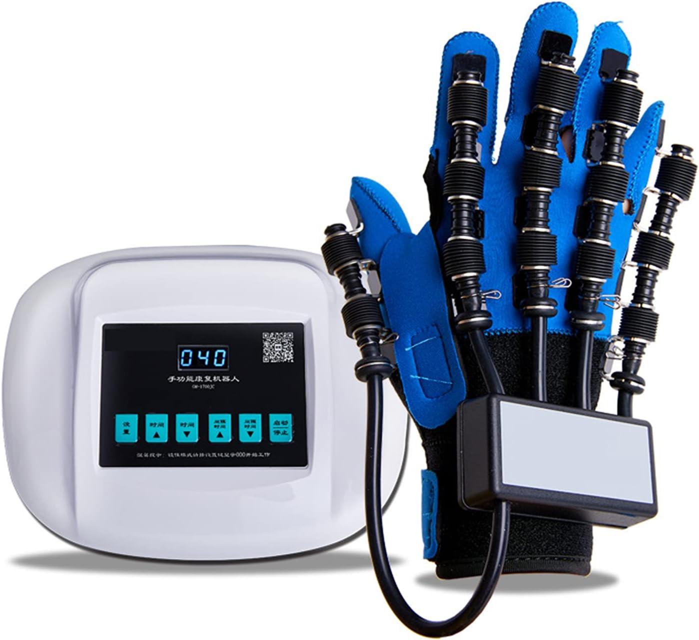 Ejercitador Neumático De Dedos, Guantes De Robot De Rehabilitación De Manos, Movimiento Ortopédico De Flexión Y Extensión De Dedos, para Pacientes con Hemiplejía por Accidente Cerebrovascular