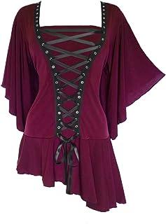 Dare to Wear Victorian Gothic Boho Women's Plus Size Alchemy Corset Top