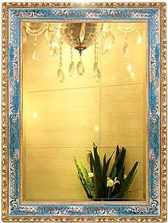 Household necessities/European Square Wall Mirror Sea Blue Bathroom Mirror Hanging Vanity Mirror Wall Hanging Bathroom Mir...