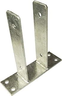 Soporte poste U, atornillado, anclaje hormigón, 91 mm