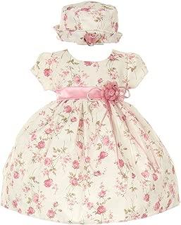 CinderellaCouture-ME839-rose Printed Jacquard Baby Dress