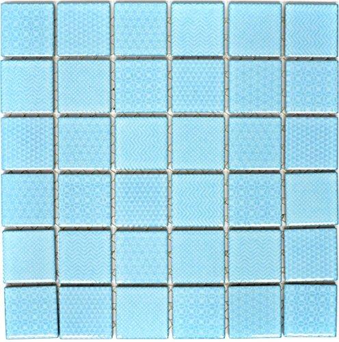 Mosaik Fliese Keramik hellblau Celadon Heritage Aqua für WAND BAD WC DUSCHE KÜCHE FLIESENSPIEGEL THEKENVERKLEIDUNG BADEWANNENVERKLEIDUNG WB16-0402