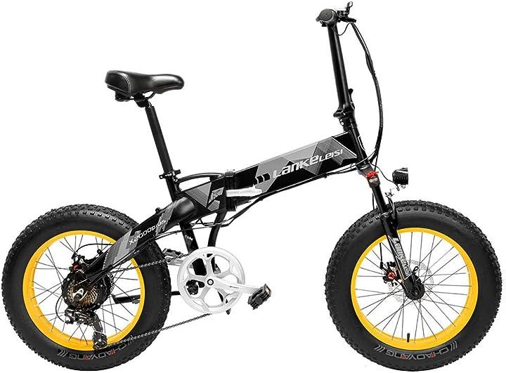 Bicicletta elettrica professionale pieghevole batteria litio 48v 3 modalità 35 km/h display lcd ciclismo B08GM8XRT7