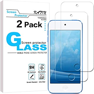 KATIN iPod Touch Screen Protector - [2-Pack] (Japan Tempered Glass) for Apple iPod Touch (7th Generation / 6th Gen / 5th Gen) [Bubble Free] with Lifetime Replacement Warranty