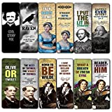 Literary Classics Bookmarks Cards (60-Pack) - Premium Quality Gift Ideas for Children, Teens, & Adults for All Occasions - Stocking Stuffers Party Favor & Giveaways