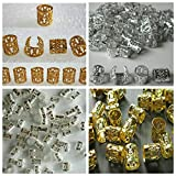 Soft 'N Style Mixed Dread Lock Dreadlocks Gold and Silver Plated Beads Metal Cuffs Hair Decoration Filigree Tube 20 Pcs