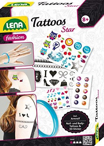 Lena 42432 - Tattoos Star, Set für Fingernägel, Handy und Körper, inklusive Armreifen