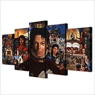 May Trees 5 Pieces Canvas Print Michael Jackson Design Wall Art Decor Posters Pictures Artworks Modern Home Decorations Print Canvas Paintings 60