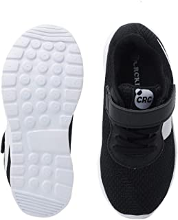 Hopscotch Baby Boys Other Velcro with Fixed Lace Athletic Shoes in Black Color