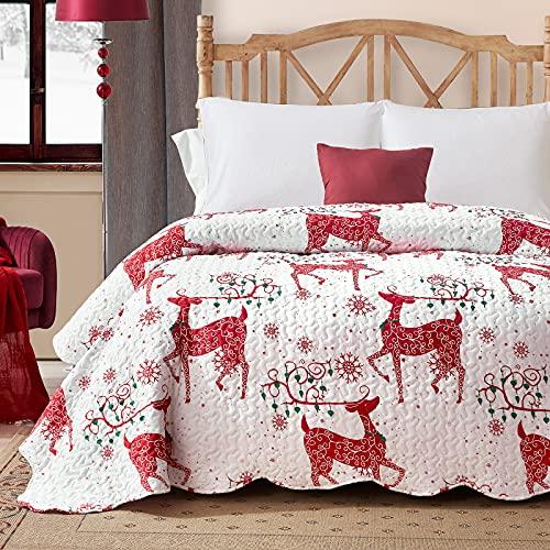 Hansleep Colcha 240x260cm Colcha Bouti Colcha de Microfibra para Dormitorio Manta Acolchada Super Suave y cómoda Adecuado para la Cama