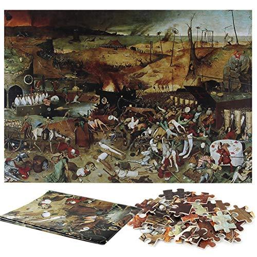 70x50cm Jigsaw Puzzle 1000 Piezas de ensamblaje Imagen de Paisaje Puzzles Juguetes educativos for Adultos Juegos El Triunfo de la Muerte