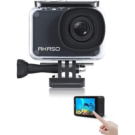 アクションカメラ AKASO V50 PRO 4K30fps 20MP 水中カメラ タッチパネル式 風切り音低減可 Wi-Fi接続 視角調整可 手ぶれ補正 外部マイク対応 30M防水 長時間撮影1100mAh*2 170°広角 HDMI出力 リモコン付き ウェアラブルスポーツカメラ アクションカム