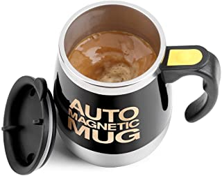 Fdit Magnetisk blandande mugg självrörande kaffemugg rostfritt stål självmagnetmugg för kaffe te varm choklad mjölk kakao ...