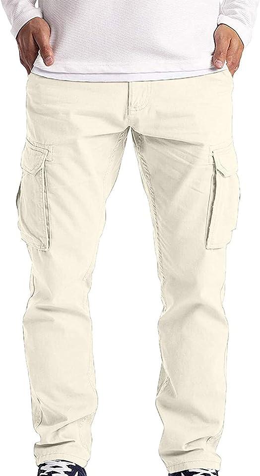 Herren Sommer Lange Hosen Cargohose Arbeitshose Freizeithose Sweatpants Trainingshose Kordelzug Einfarbig Outdoor Regular Funktions Taschen