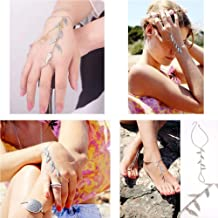 Tongyide Jewelry Retro Fringed Foot Chain Anklet Bracelet Leaf