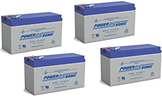 PS-1290 12 Volt 9 Amp Hour Rechargeable SLA Battery - PACK OF 4