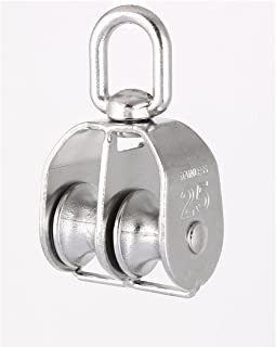 Aexit 0.03T Single Material Handling Swivel Lifting 0.2 Snatch Blocks Rope Pulley