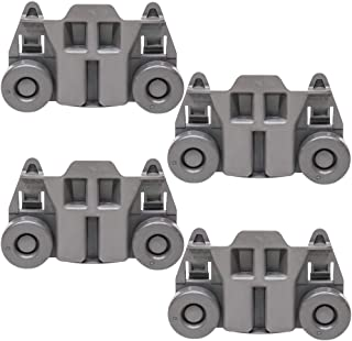 W10195417 Dishwasher Roller Rack Wheels for Whirlpool Jenn-Air Kenmore Kitchenaid Lower Rack 1872128 Part Replacement AP6016764, PS11750057, WPW10195417(4packs)
