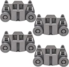 W10195417 Dishwasher Roller Rack Wheels for Whirlpool Jenn-Air Ken-more Kitchen-aid Lower Rack 1872128 Part Replacement for AP6016764, PS11750057, WPW10195417(4packs)